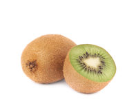 Sliced and cut kiwifruit composition Royalty Free Stock Photo