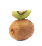 Sliced and cut kiwifruit composition Stock Photo