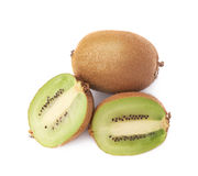 Sliced and cut kiwifruit composition Royalty Free Stock Images
