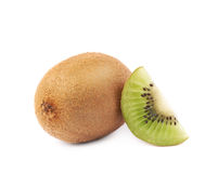 Sliced and cut kiwifruit composition Royalty Free Stock Image