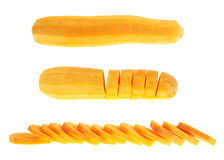 Sliced, cut and peeled carrots Stock Photos