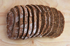 Sliced dark bread Stock Photos