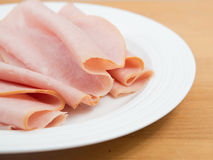Sliced deli ham Stock Images