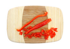 Sliced and Diced Red Pepper Stock Image