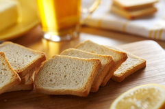 Sliced double baked bread Royalty Free Stock Image