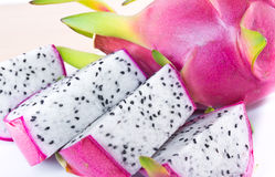 Sliced dragon fruit. Isolate on white background Stock Image