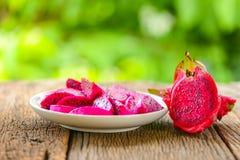 Sliced dragon fruit Stock Images