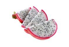 Sliced Dragon Fruit on white Royalty Free Stock Photo