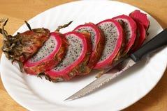 Sliced Dragonfruit Stock Image