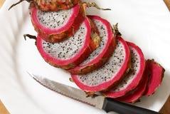 Sliced Dragonfruit Stock Photography