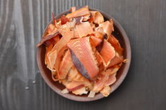 Sliced Dried Bonito Royalty Free Stock Images