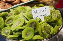 Sliced dried kiwis Royalty Free Stock Photos