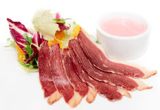 Sliced duck breast Stock Image