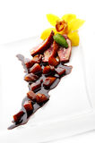 Sliced duck meat Royalty Free Stock Photography