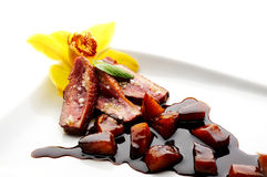 Sliced duck meat Stock Images