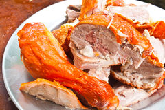 Sliced Duck Meat Stock Photo