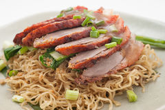 Sliced duck with noodles Royalty Free Stock Photo
