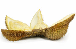 Sliced Durian Isolated Stock Photos