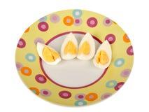 Sliced egg Stock Image