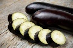 Sliced eggplant Stock Photo