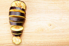 Sliced eggplant Stock Images