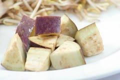 Sliced of eggplant Royalty Free Stock Photos