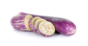 Sliced eggplant isolated on a white Royalty Free Stock Images