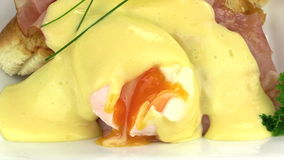 Sliced Eggs Benedict 2 stock video