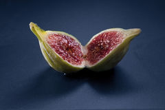 Sliced fig Royalty Free Stock Images