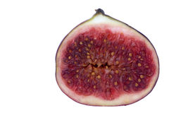 Sliced Fig Macro Isolated Stock Photography