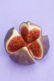 Sliced figs Royalty Free Stock Images
