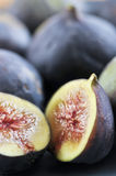 Sliced figs Stock Photography