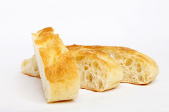 Sliced focaccia bread Royalty Free Stock Image