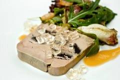 Sliced foie gras with sauce Stock Photo