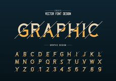 Sliced font and alphabet vector, Idea typeface letter and number design, Graphic text on background. Sliced font and alphabet vector, Idea typeface letter and royalty free illustration