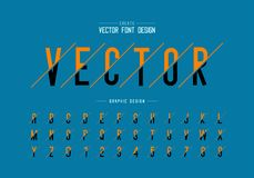 Sliced font and alphabet vector, Letter typeface and number design, Graphic text on background. Sliced font and alphabet vector, Letter typeface and number vector illustration