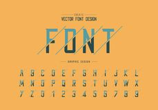 Sliced font and alphabet vector, Modern Typeface and letter number design, Graphic text on background. Sliced font and alphabet vector, Modern Typeface and vector illustration