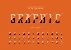 Sliced font and alphabet vector, Typeface and number design, Graphic text on background. Sliced font and alphabet vector, Typeface and number design on royalty free illustration