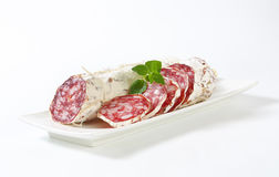 Sliced french salami Stock Photography