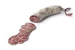 Sliced French Sausage Royalty Free Stock Images