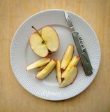 Sliced Fresh Apple Royalty Free Stock Photo