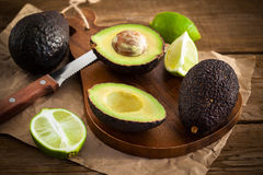 Sliced fresh avocado on cutting board Stock Photography