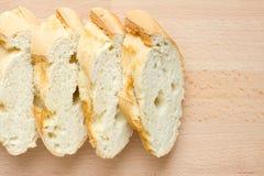 Sliced fresh baguette Stock Photos