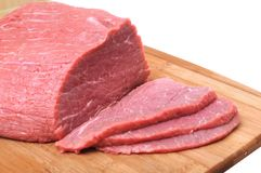 Sliced fresh beef Royalty Free Stock Image