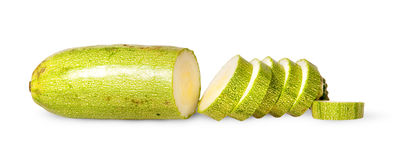 Sliced fresh courgette single Stock Images