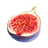 Sliced Fresh figs with cut pieces isolated on white background m Royalty Free Stock Photos