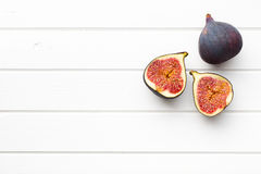 Sliced fresh figs Royalty Free Stock Photography