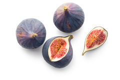Sliced fresh figs Stock Photos