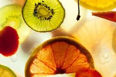 Sliced fresh fruit royalty free stock image