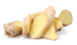 Sliced fresh ginger Stock Photography
